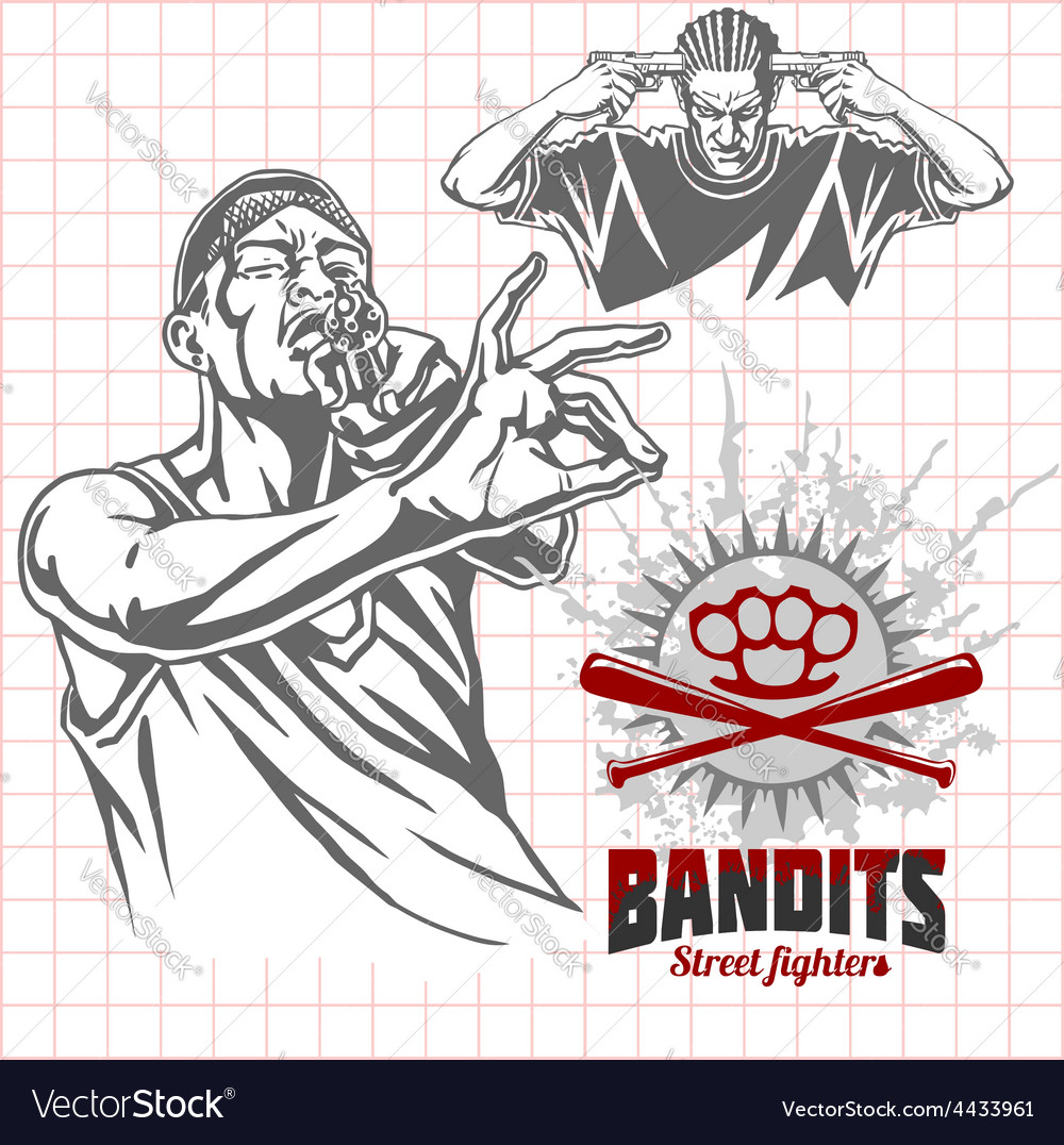 Bandits and hooligans - criminal nightlife vector | Price: 3 Credit (USD $3)