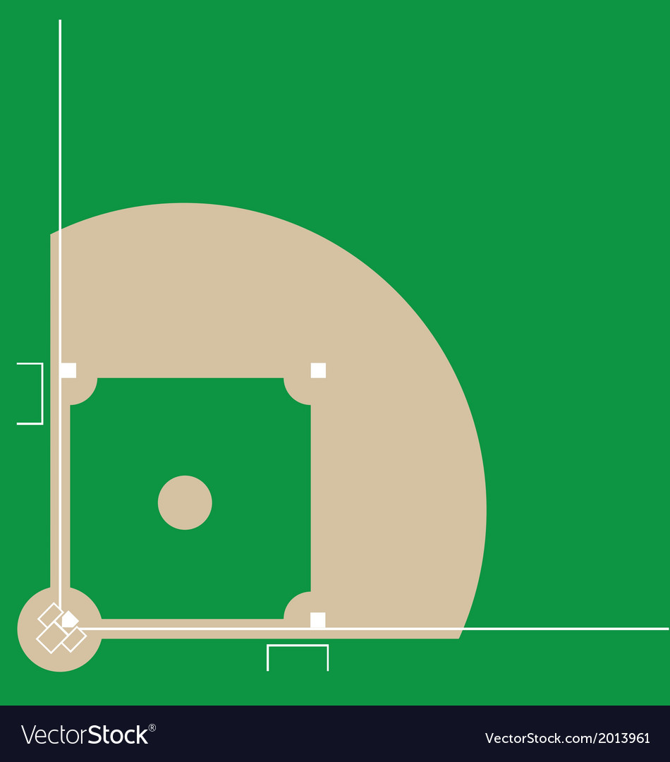 Baseball diamond vector | Price: 1 Credit (USD $1)