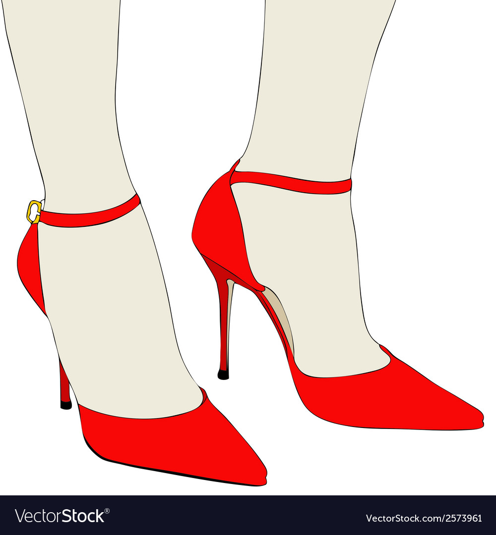 The beautiful shoes of an elegant woman vector | Price: 1 Credit (USD $1)