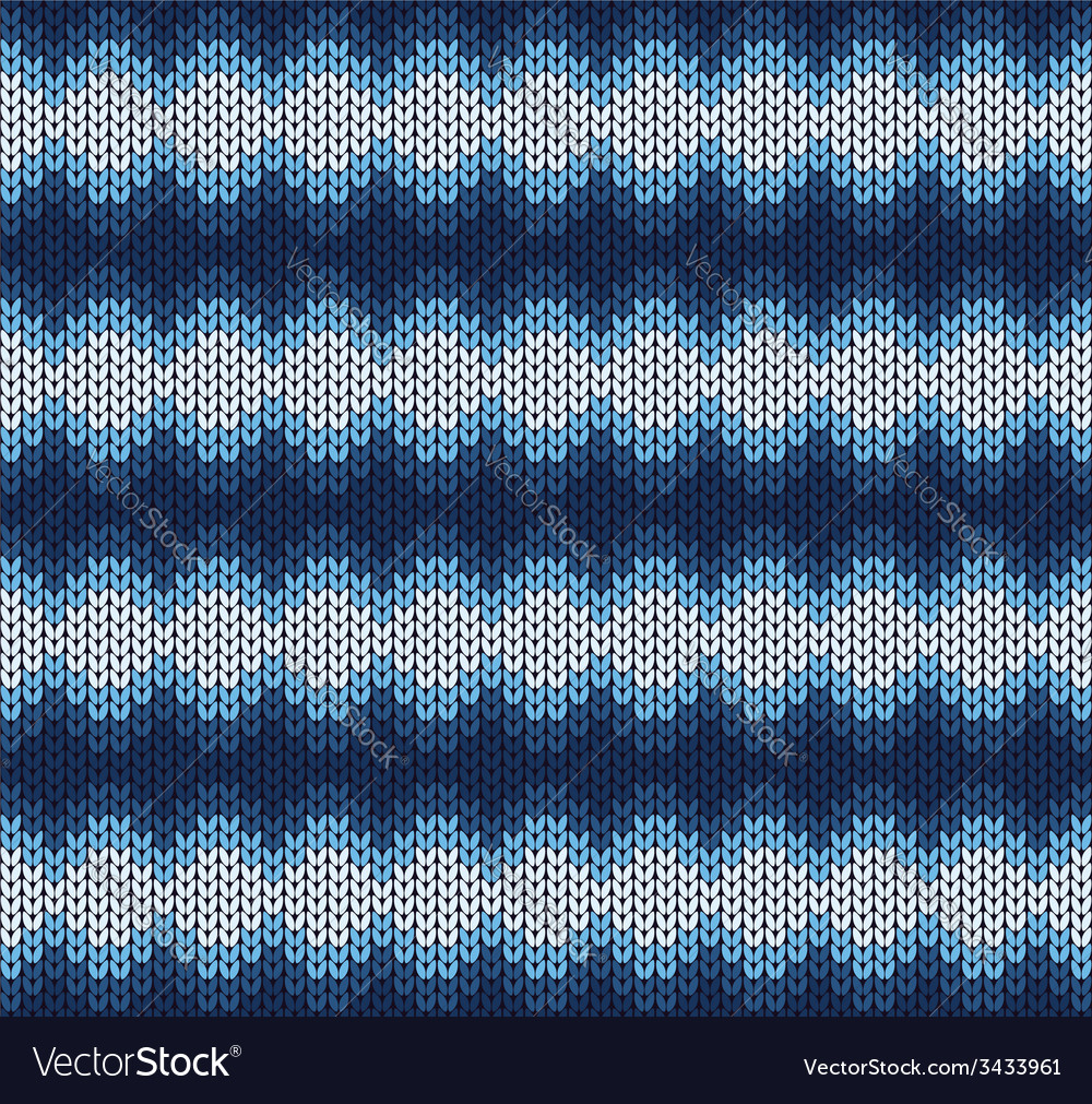 Blue knitted pattern vector | Price: 1 Credit (USD $1)