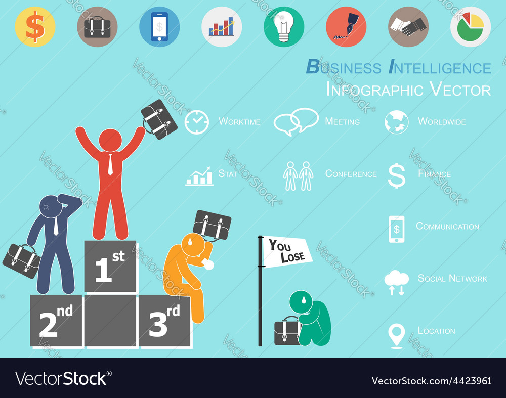 Business intelligence vector | Price: 1 Credit (USD $1)