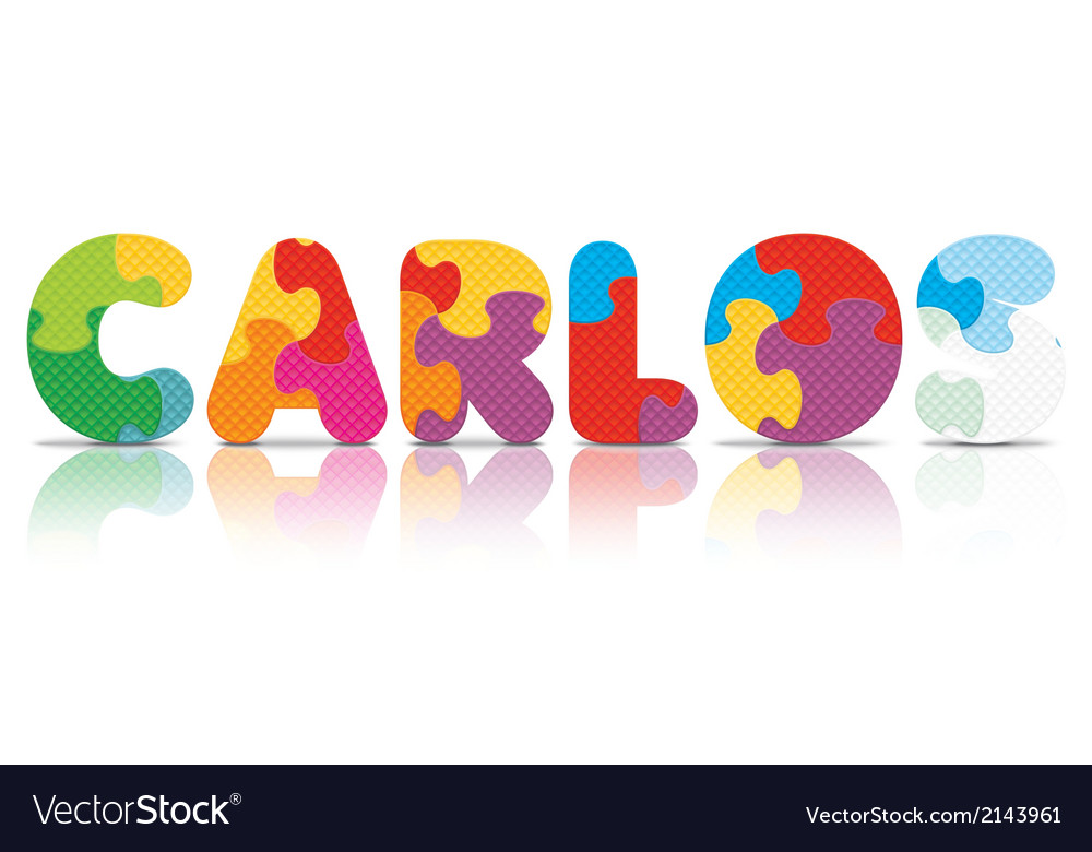 Carlos written with alphabet puzzle vector | Price: 1 Credit (USD $1)