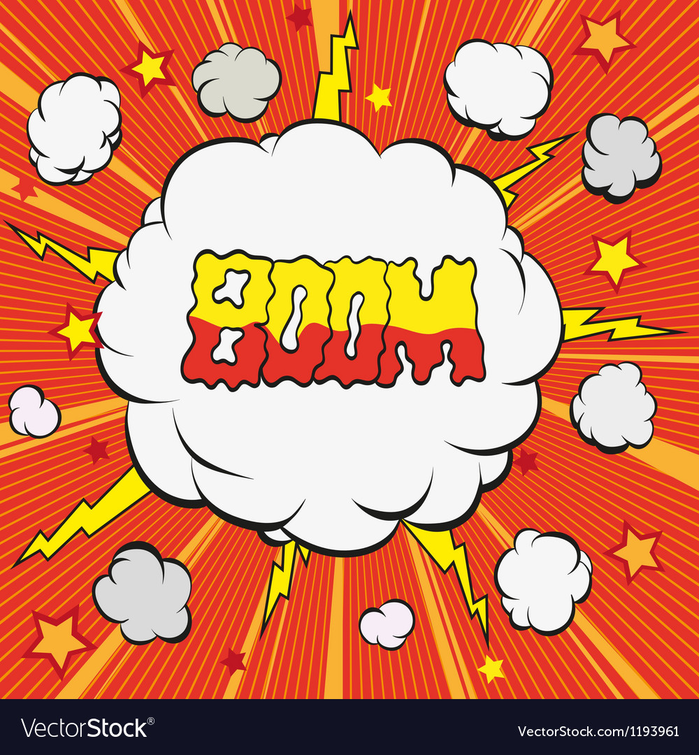 Cartoon explosion vector | Price: 1 Credit (USD $1)
