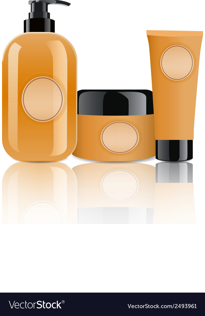 Cosmetic containers vector | Price: 1 Credit (USD $1)