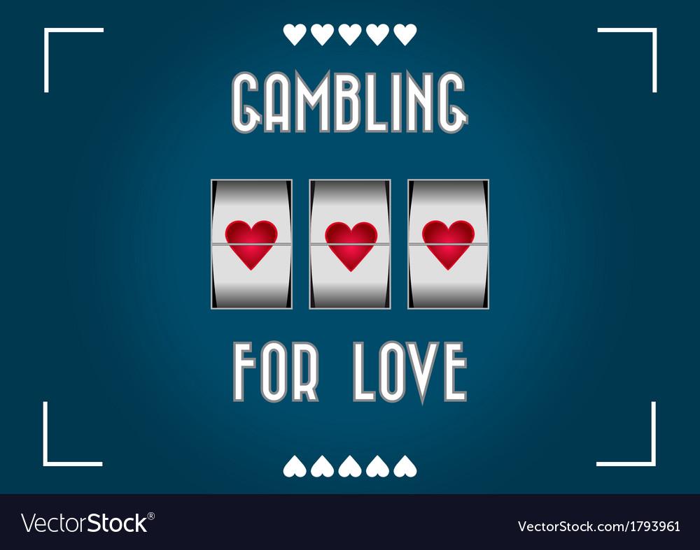 Love gambling vector | Price: 1 Credit (USD $1)