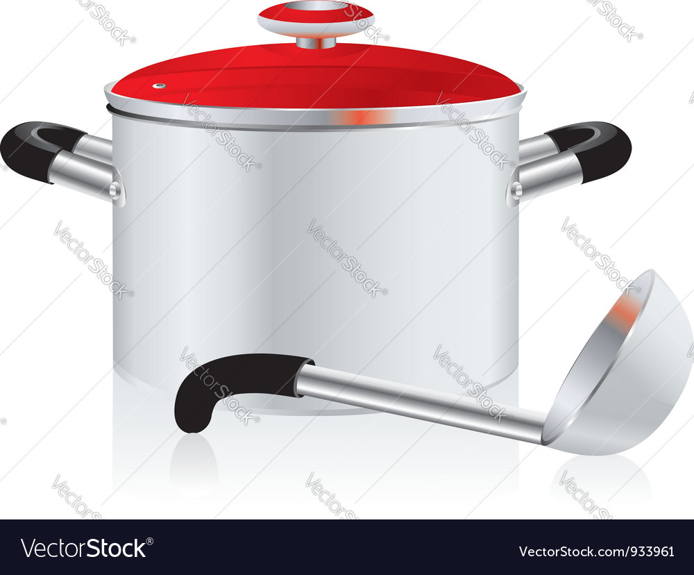 Metallic pan vector | Price: 1 Credit (USD $1)