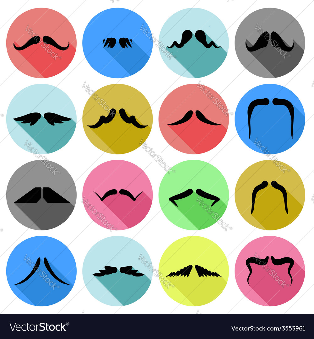 Mustaches icons vector | Price: 1 Credit (USD $1)