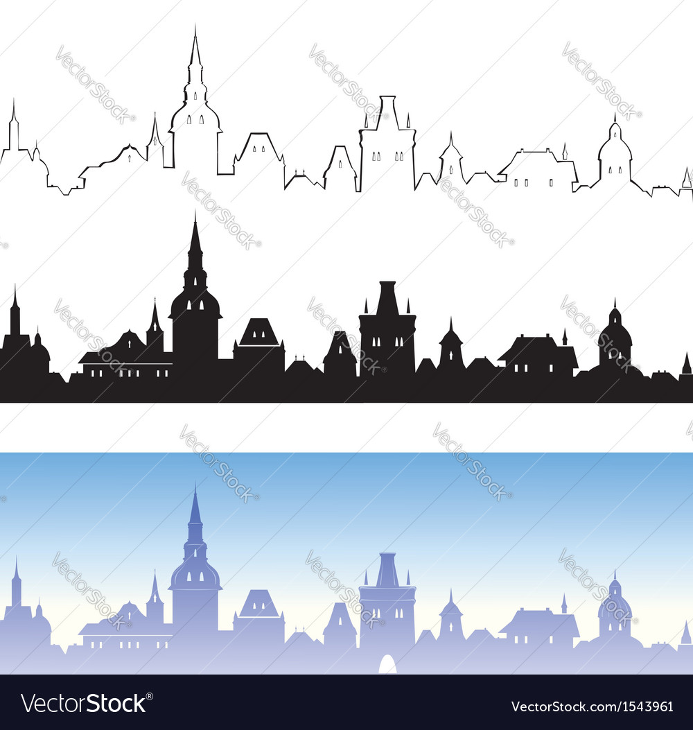 Old town design elements vector | Price: 1 Credit (USD $1)