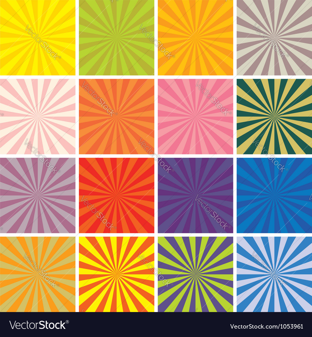 Retro background set vector