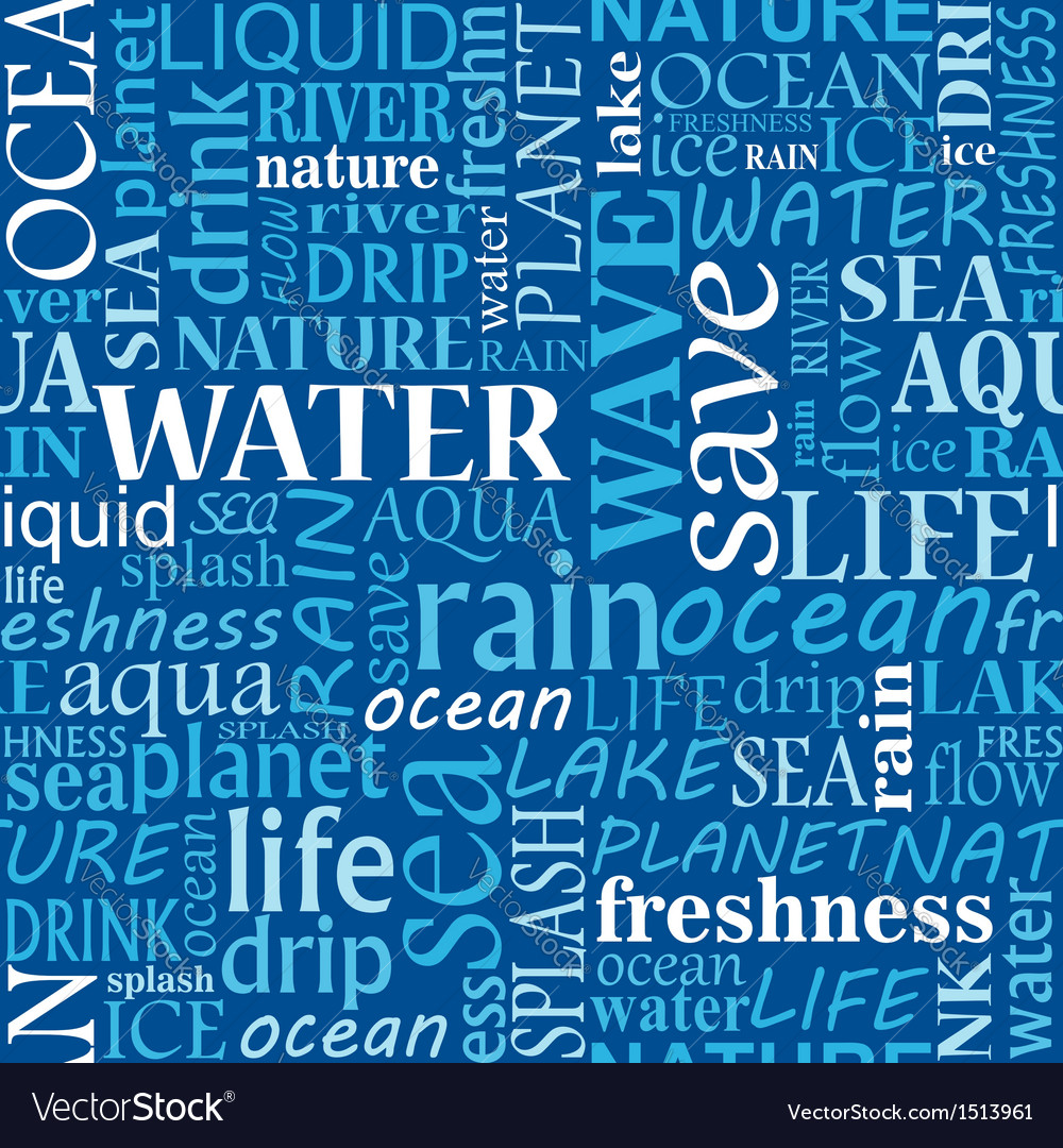 Seamless water tags cloud vector | Price: 1 Credit (USD $1)