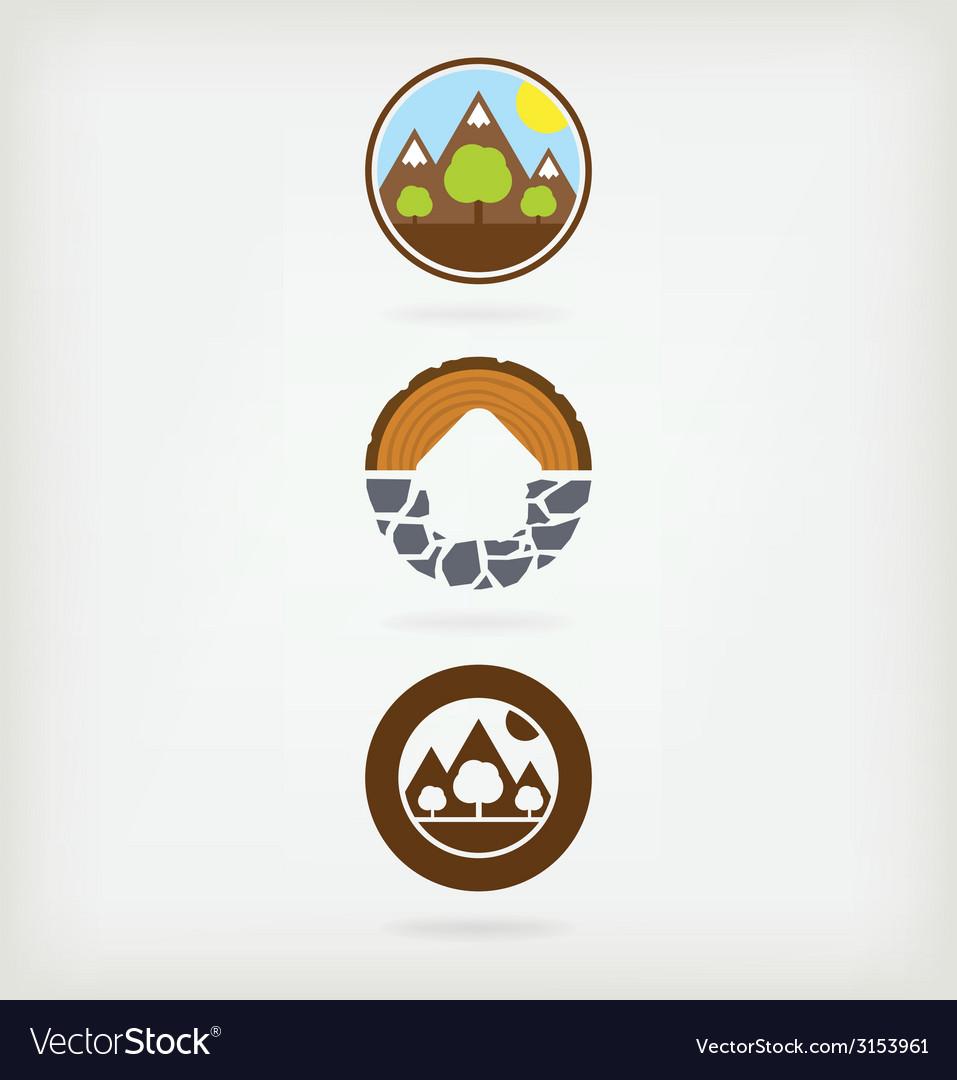 Three natural logo vector | Price: 1 Credit (USD $1)
