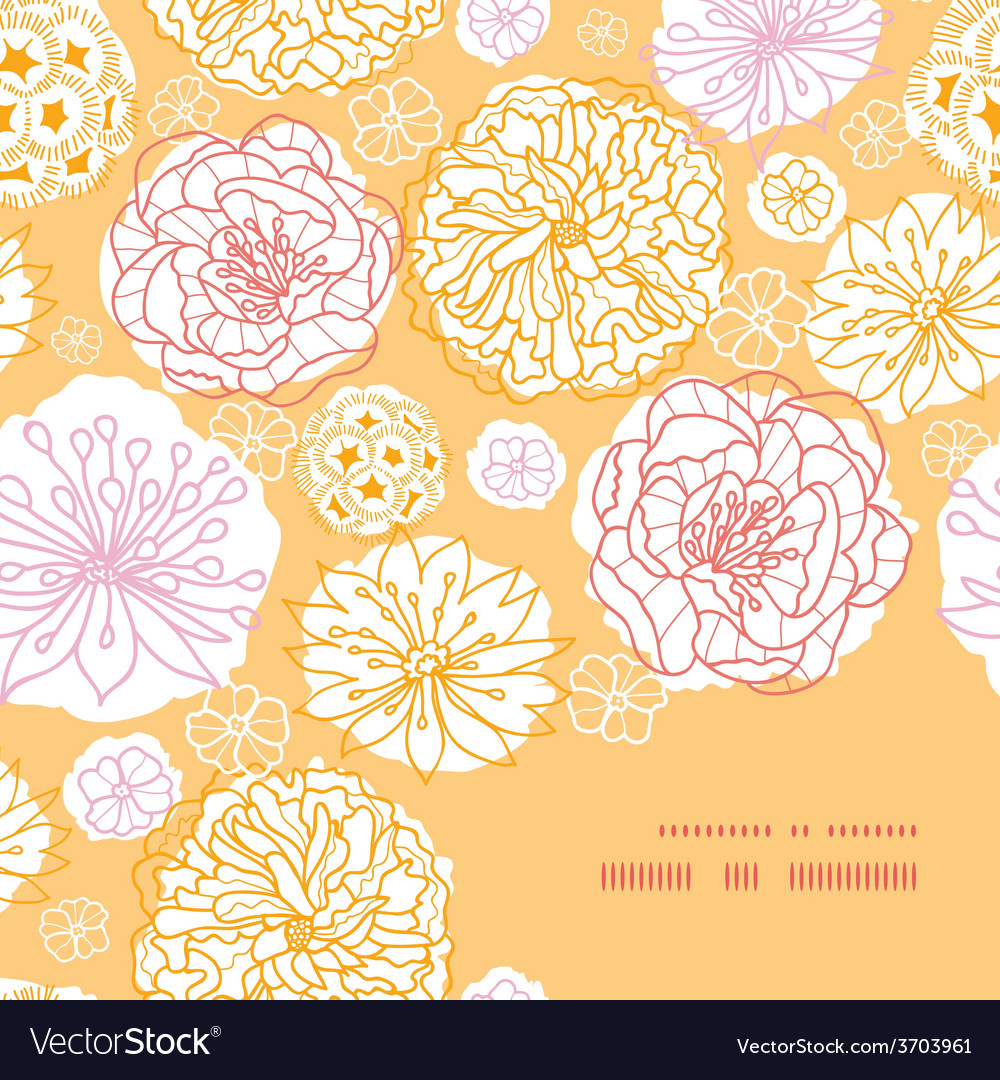 Warm day flowers frame corner pattern vector | Price: 1 Credit (USD $1)
