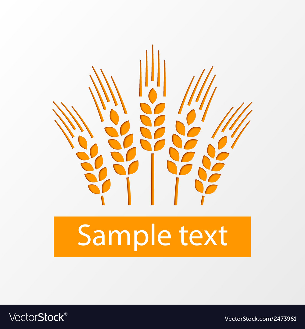Wheat ears emblem eps10 vector | Price: 1 Credit (USD $1)