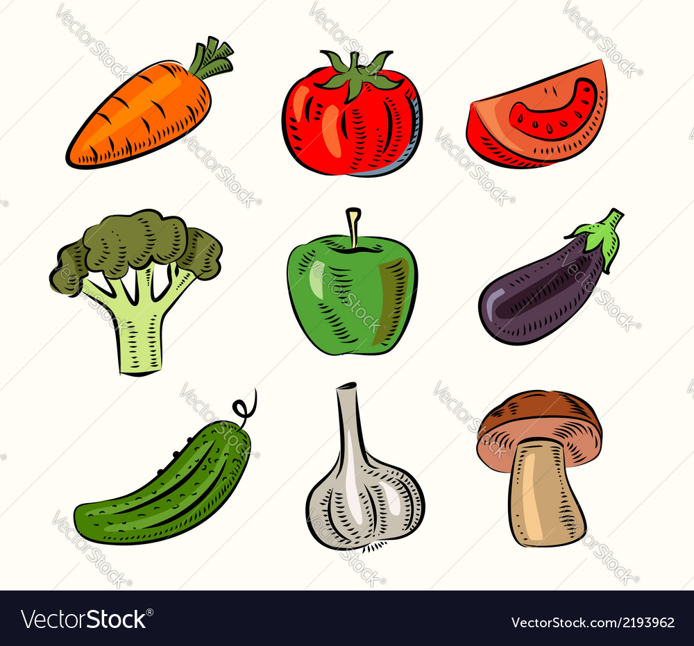 Fruit and vegetable vector | Price: 1 Credit (USD $1)