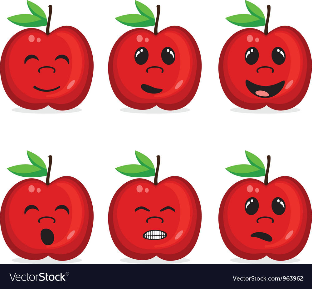 Fruit collection with face expression vector | Price: 1 Credit (USD $1)