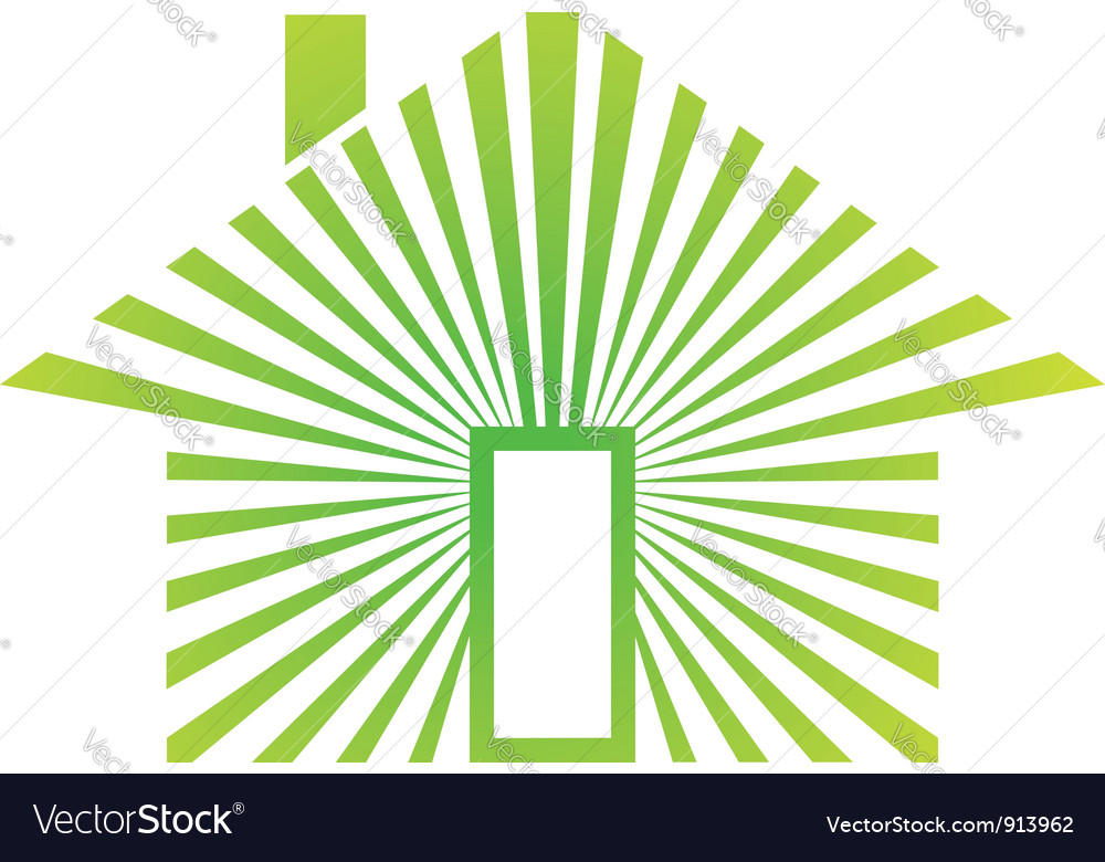 House energy green vector | Price: 1 Credit (USD $1)