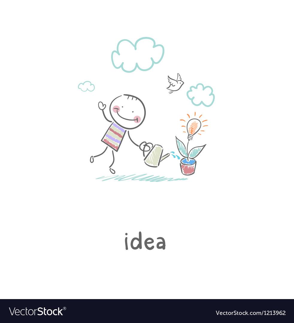 Man grows idea vector   Price: 1 Credit (USD $1)