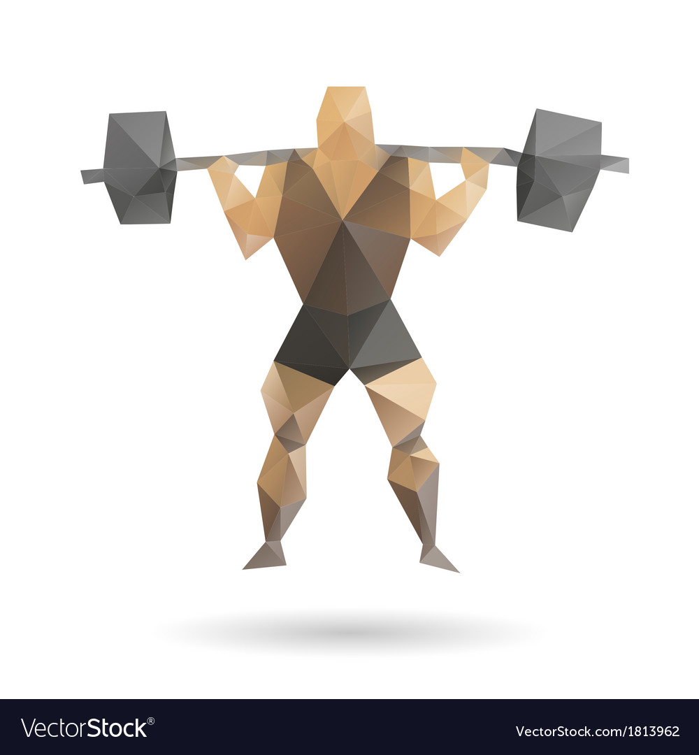 Muscle man abstract vector   Price: 1 Credit (USD $1)