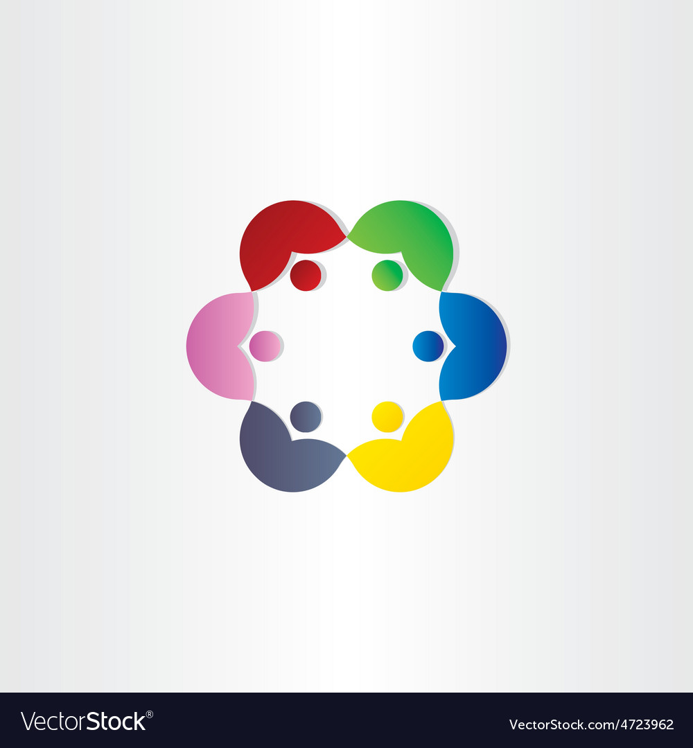 People in circle business meeting icon vector | Price: 1 Credit (USD $1)