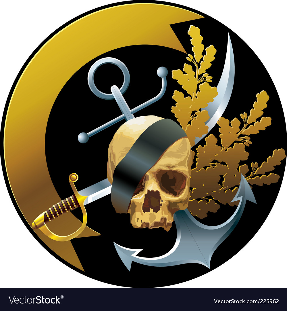 Pirate badge vector | Price: 3 Credit (USD $3)