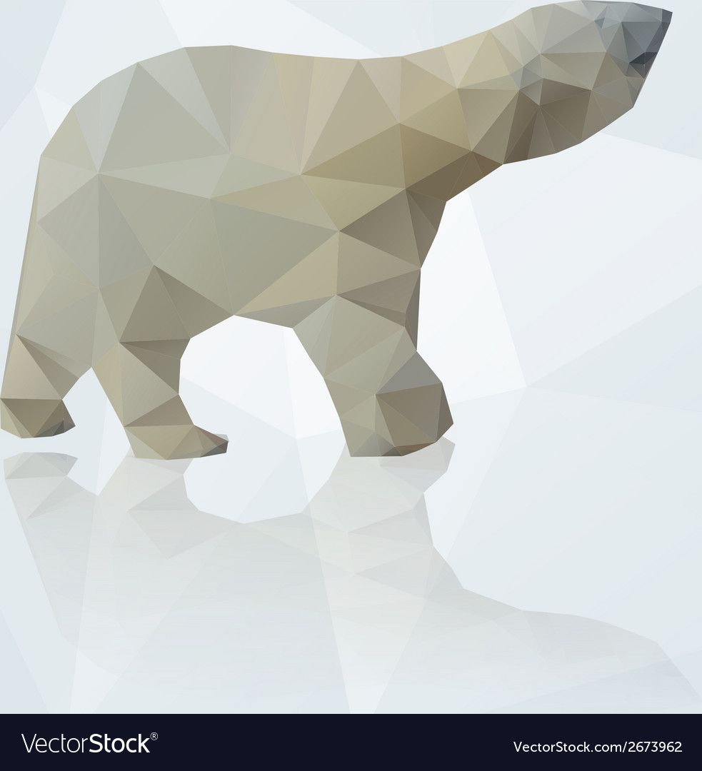 Polar bear from triangles eps10 vector | Price: 1 Credit (USD $1)