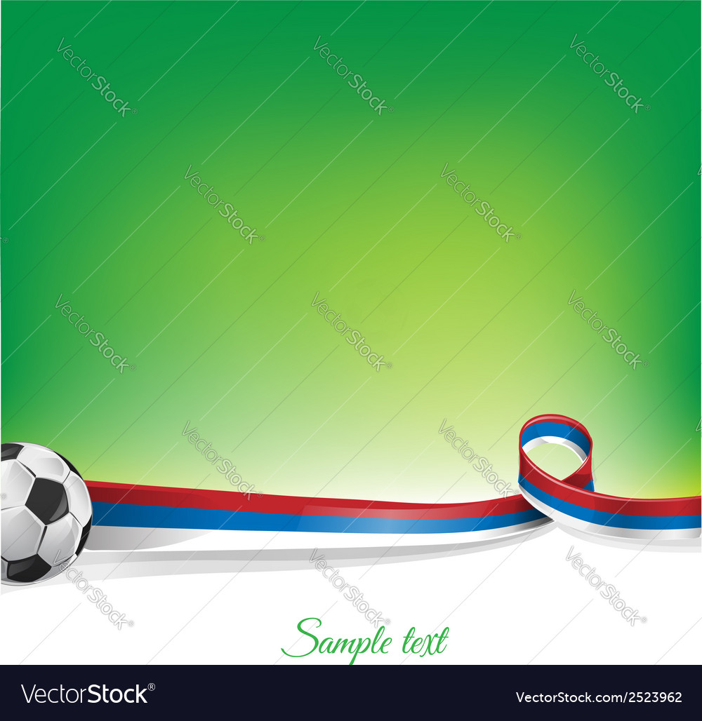 Russian background with soccer ball vector | Price: 1 Credit (USD $1)