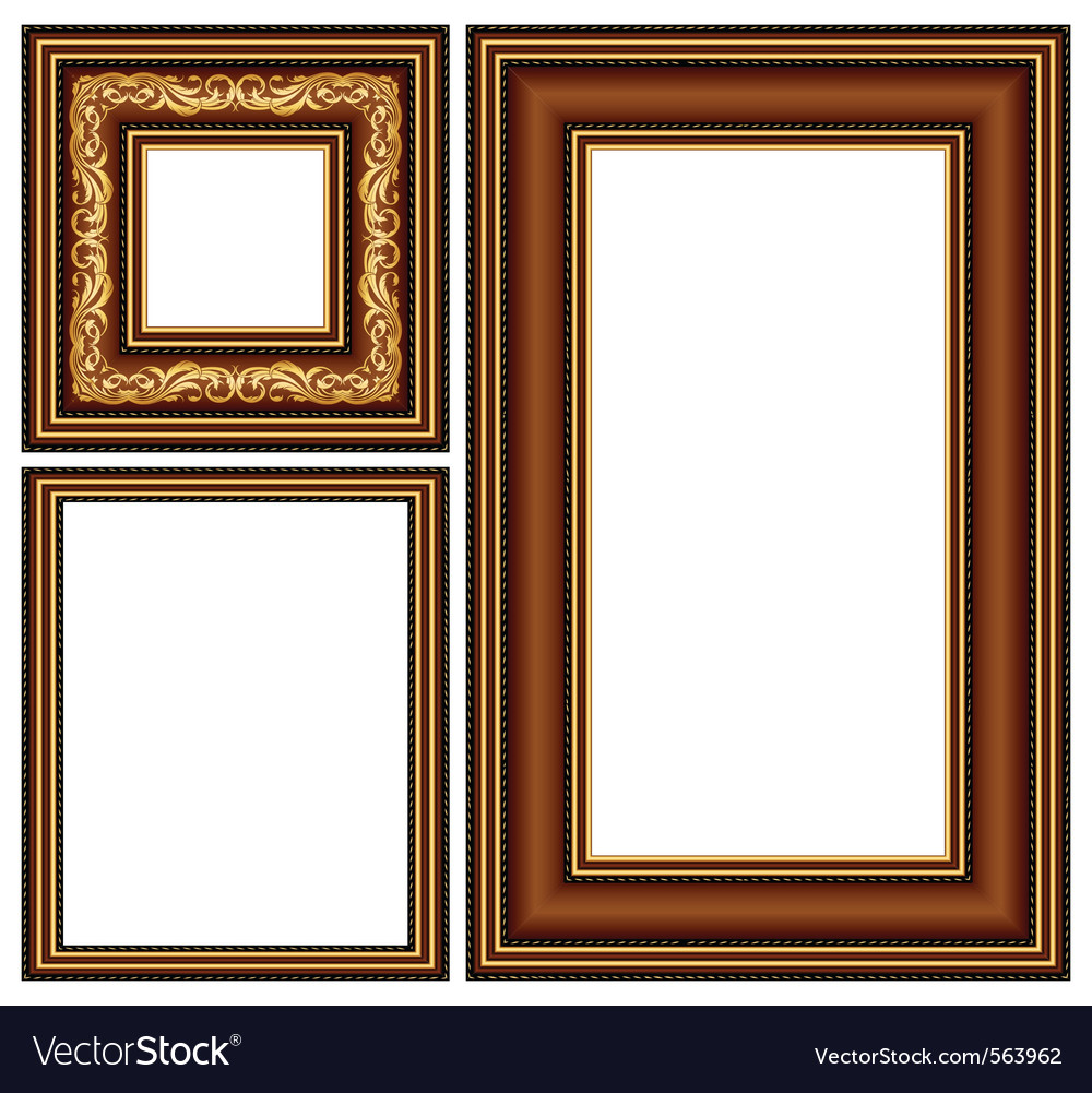 Vintage baguette frame vector | Price: 1 Credit (USD $1)