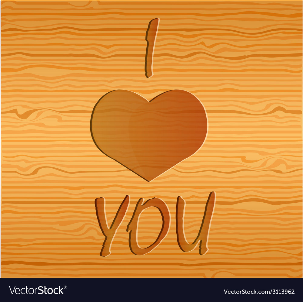 Wood texture with love vector | Price: 1 Credit (USD $1)