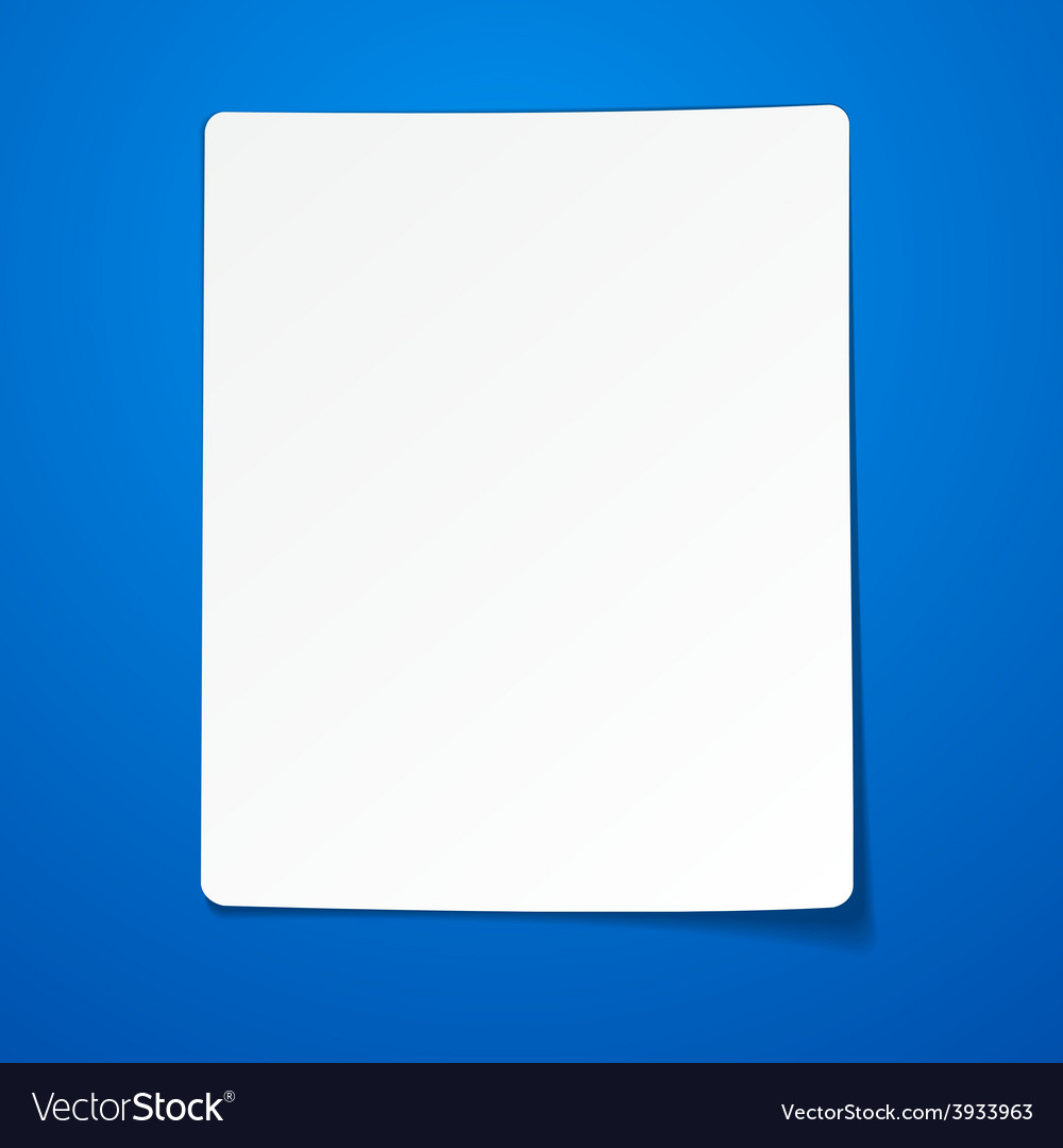 Blank paper sheet vector | Price: 1 Credit (USD $1)