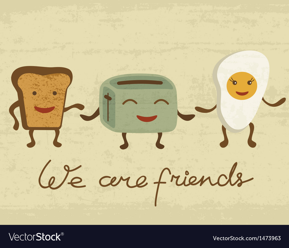 Breakfast friends vector | Price: 3 Credit (USD $3)