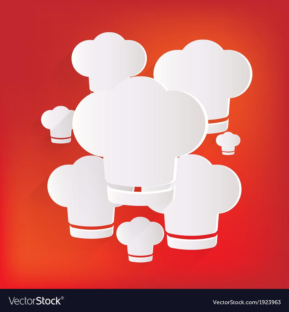 Chef cap icon cooking hat vector | Price: 1 Credit (USD $1)