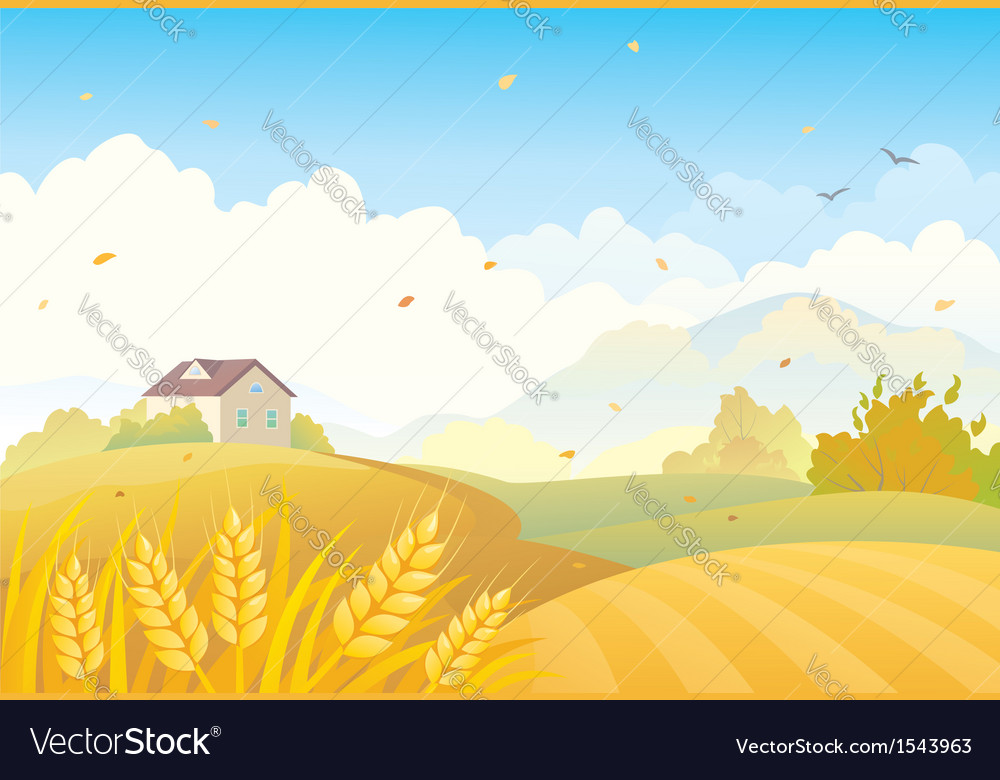 Fall fields vector | Price: 1 Credit (USD $1)