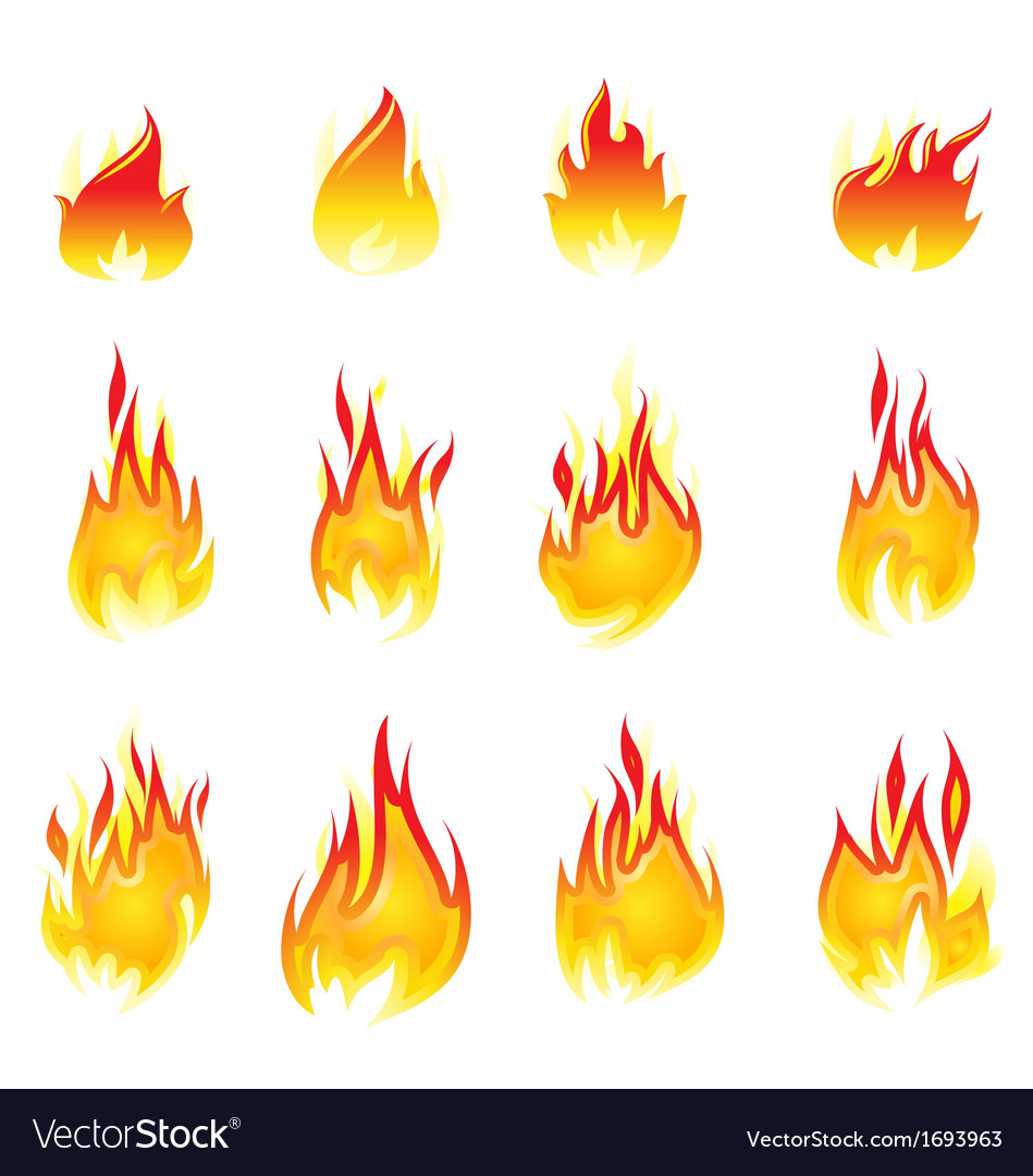 Fire collection vector | Price: 1 Credit (USD $1)