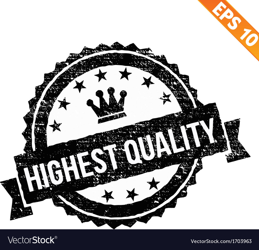Grunge highest quality guarantee rubber stamp - vector | Price: 1 Credit (USD $1)