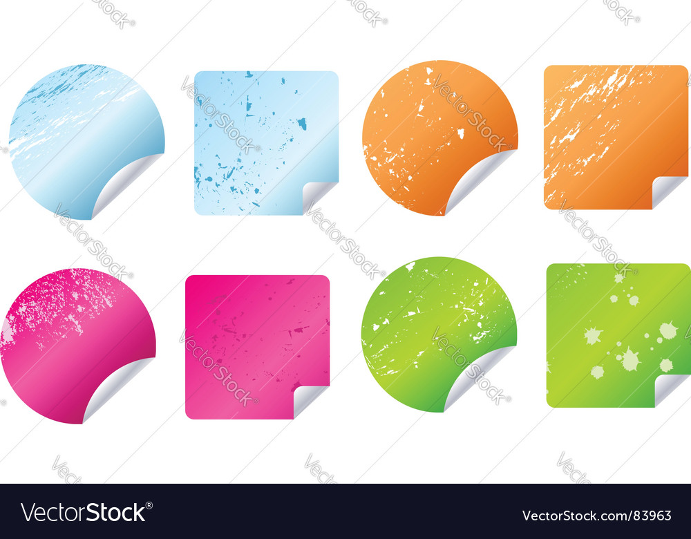 Grunge stickers labels vector | Price: 1 Credit (USD $1)