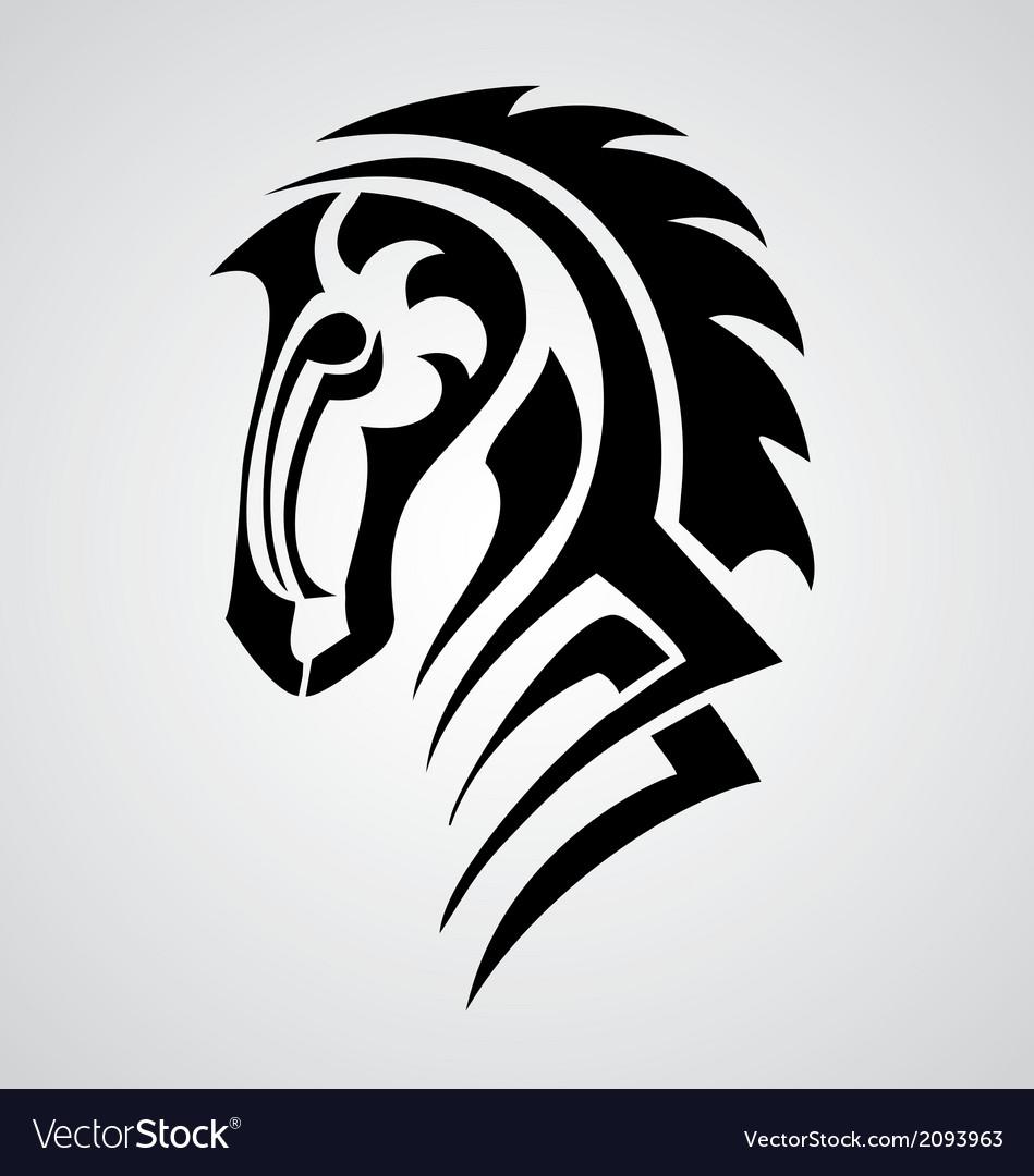 Horse tattoo design vector | Price: 1 Credit (USD $1)