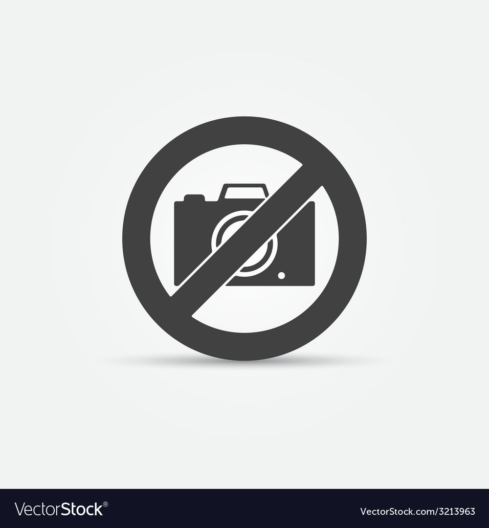 No photo camera sign vector | Price: 1 Credit (USD $1)