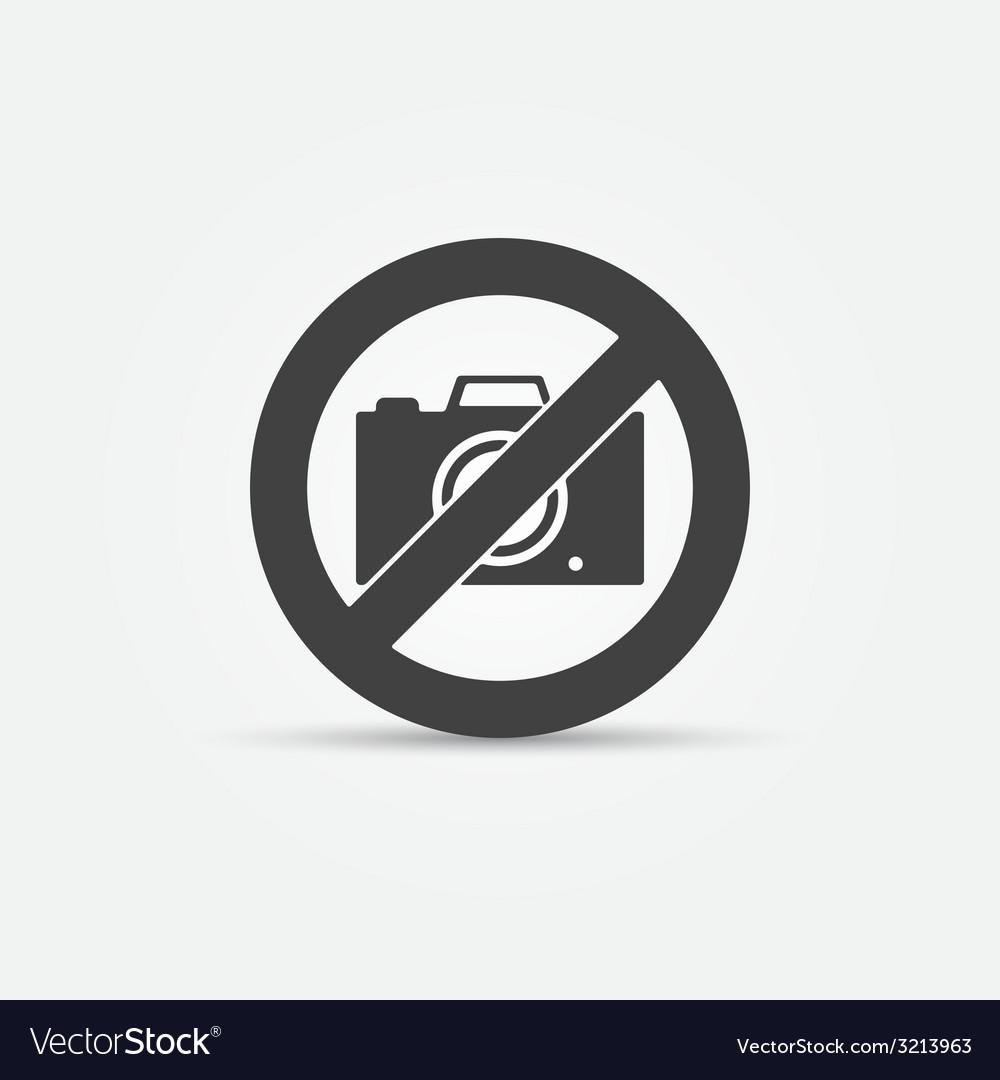 No photo camera sign vector | Price: 1 Credit (USD $1)