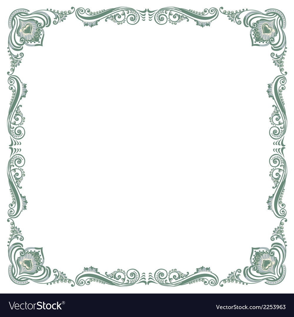 Pattern frame green vector | Price: 1 Credit (USD $1)