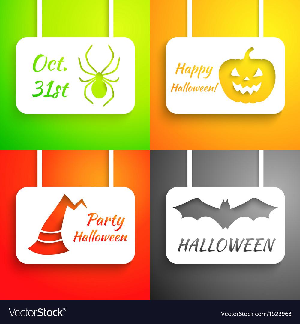Pumpkin bat hat and spider paper applique vector | Price: 1 Credit (USD $1)