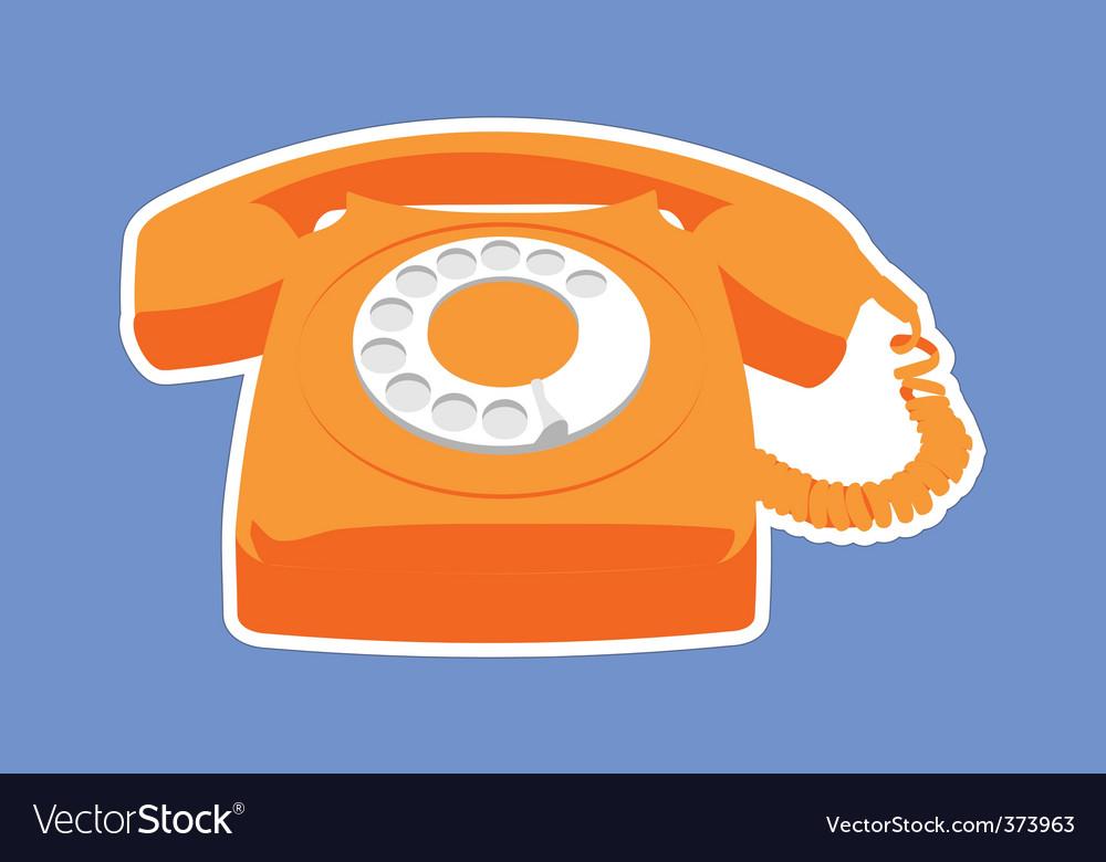 Retro phone vector | Price: 1 Credit (USD $1)