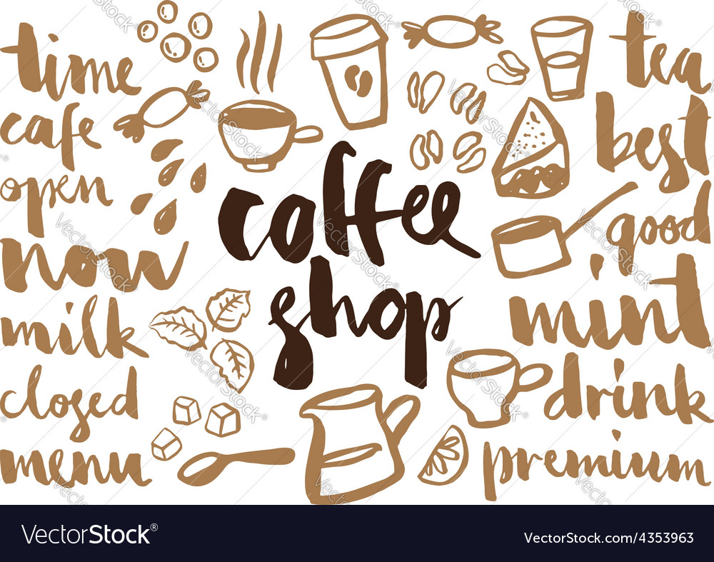 Set of coffee labels vector | Price: 1 Credit (USD $1)