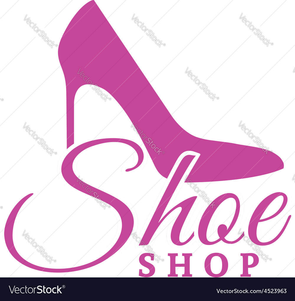 Shoe shop pink logo concept vector | Price: 1 Credit (USD $1)