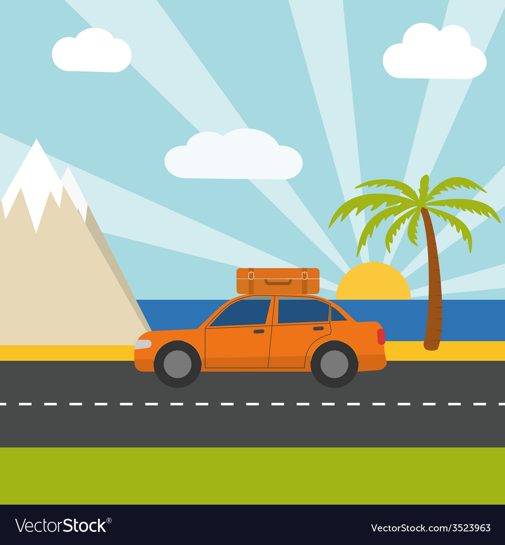 Summer vacation tourism vector   Price: 1 Credit (USD $1)