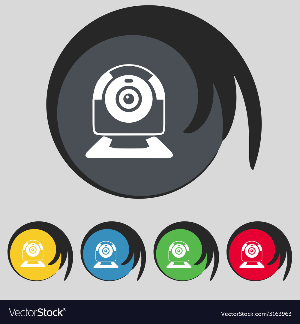 Webcam sign icon web video chat symbol camera chat vector   Price: 1 Credit (USD $1)