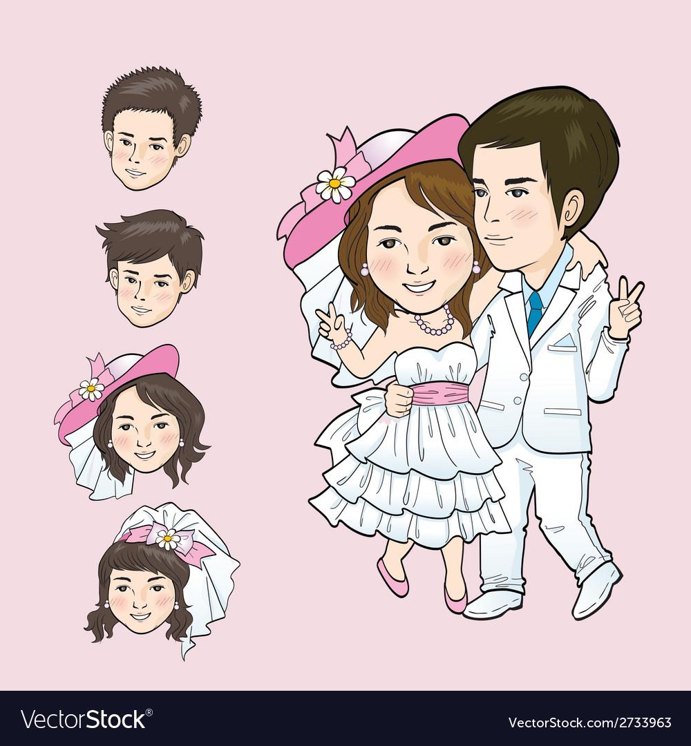 Wedding cartoon vector | Price: 1 Credit (USD $1)