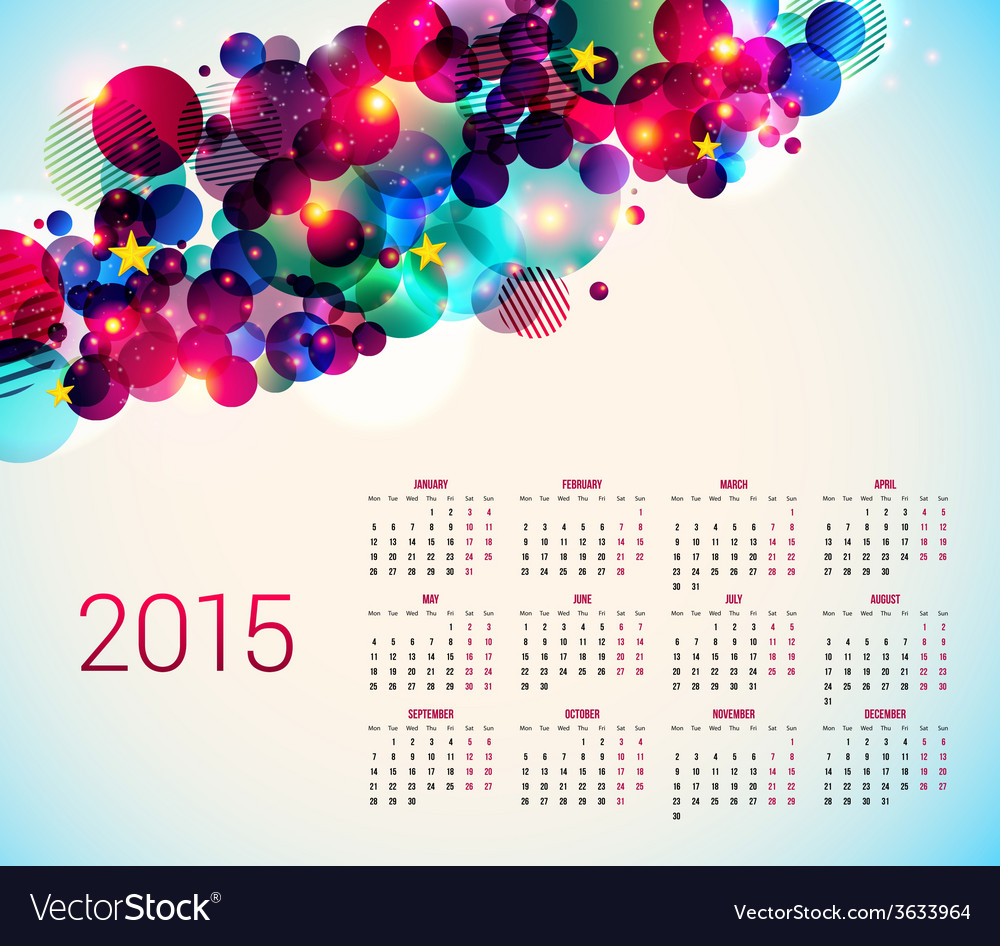 2015 year calender abstract background with vector   Price: 1 Credit (USD $1)