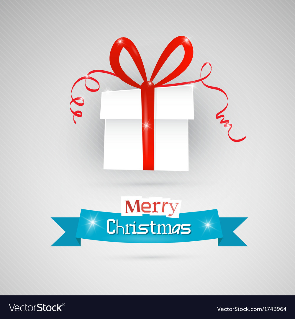 Abstract merry christmas theme - present on grey vector | Price: 1 Credit (USD $1)