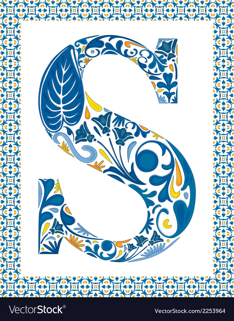 Blue letter s vector | Price: 1 Credit (USD $1)