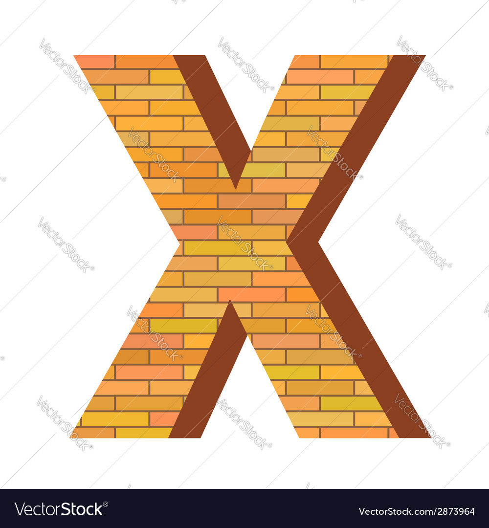 Brick letter x vector | Price: 1 Credit (USD $1)